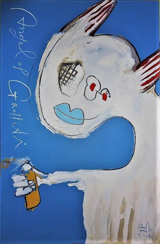 Angel of Graffity - 2012 Benjamin Adamah art, paintings
